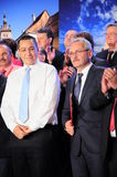 Victor Ponta and Liviu Dragnea stock photography