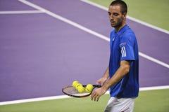 Victor Troicki en el tenis del ATP en Doha Imagenes de archivo