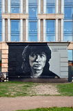Victor Tsoi γκράφιτι Στοκ φωτογραφίες με δικαίωμα ελεύθερης χρήσης
