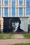 Victor Tsoi grafitti Royaltyfria Foton