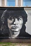 Victor Tsoi grafitti Fotografering för Bildbyråer