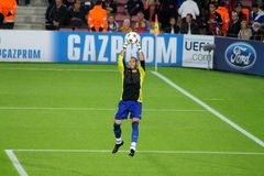 Victor Valdes, σούπερ σταρ ποδοσφαίρου, προηγούμενος τερματοφύλακας Fc Βαρκελώνη, Ισπανία Στοκ Εικόνα