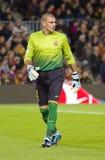 Victor Valdes FC Βαρκελώνη Στοκ Φωτογραφία