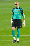 Victor Valdes of FC Barcelona Royalty Free Stock Images