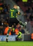Victor Valdes of FC Barcelona Stock Images
