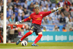 Victor Valdes of FC Barcelona Stock Photos