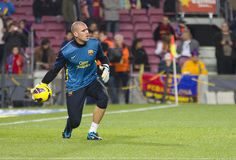 Victor Valdes FCB Royalty Free Stock Images