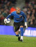 Victor Valdes Goalkeeper. BARCELONA, SPAIN : Victor Valdes Spanish Futbol Club Barcelona player in action during the match between FC Barcelona and Athletic Royalty Free Stock Images