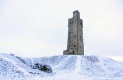 Victoratoren op Kasteelheuvel in Huddersfield, West-Yorkshire, Engeland stock foto