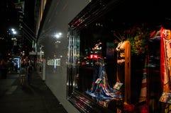 Victoria's Secret in Manhattan Lit at Night, New York Stock Photo