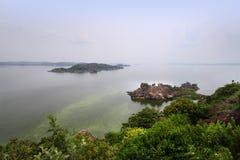Victoria湖在姆万扎市,坦桑尼亚 免版税图库摄影