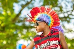 "VICTORIA, †de SEYCHELLES ""26 de abril de 2014: no interno do carnaval Foto de Stock"
