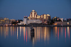 Victoria. Buildings illuminated at night, Victoria, British Columbia Royalty Free Stock Photography