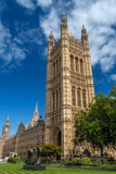 Victoria. Tower and College Green - London, England royalty free stock image