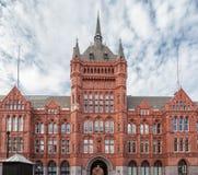 Victoria Albert Museum London. Detail of the facade of Victoria and Albert Museum in London, England Stock Photo