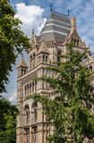 Victoria and Albert Museum London England. Detail of the main adorned tower of the Victoria and Albert Museum in London, England Royalty Free Stock Photo