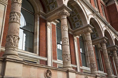 Victoria and Albert Museum. London, United Kingdom - architecture features of Victoria and Albert Museum exterior ornaments Stock Images