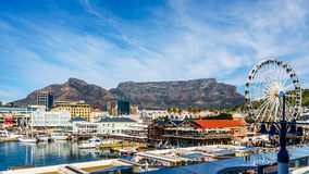 Victoria and Albert Waterfront in Cape Town South Africa. With famous Table Mountain in the background Stock Image