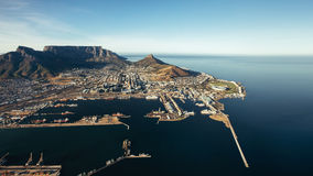Victoria & Alfred waterfront and Cape Town harbour Stock Photos