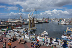 Victoria and Alfred Waterfront. Cape Town South Africa March 20 2016  The Victoria and Alfred Waterfront district is a commercial and residential tourist area Royalty Free Stock Photos