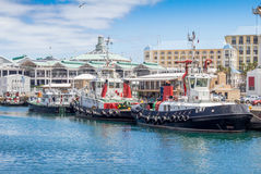 Victoria and Alfred Waterfront and harbour in Cape Town Royalty Free Stock Photo