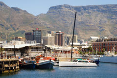 Victoria and Alfred Waterfront, skyscrapers and Table Mountain, Stock Images
