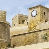Citadel of Victoria on island Gozo. Victoria also known among the native Maltese as Rabat on maltese island Gozo.  Cittadella or Citadel lies in the heart of Royalty Free Stock Photos