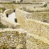 Labyrinth of streets in citadel. Victoria also known among the native Maltese as Rabat on maltese island Gozo. Labyrinth of narrow streets in the citadel Stock Photos