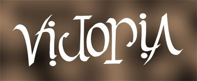 Victoria ambigram Stock Fotografie