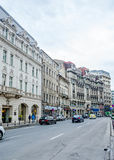 Victoria Avenue (Calea Victoriei) with old, vintag Royalty Free Stock Photo