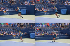 Victoria Azarenka. World no 1 female tennis player Victoria Azarenka during training session for the 2012 US Open , New York Stock Image
