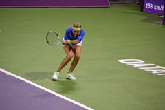 Victoria Azarenka 3. DOHA-QATAR: FEBRUARY 17: Tennis Player Victoria Azarenka at Qatar Total Open on February 17, 2012 in Doha, Qatar. The event was held from royalty free stock photo