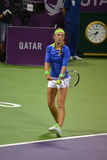 Victoria Azarenka 5. DOHA-QATAR: FEBRUARY 17: Tennis Player Victoria Azarenka at Qatar Total Open on February 17, 2012 in Doha, Qatar. The event was held from royalty free stock photography