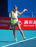 Victoria Azarenka of Belarus in action Royalty Free Stock Images