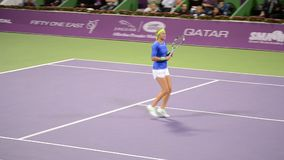 Victoria Azarenka stock video footage