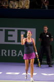 Victoria azarenka victory celebration Stock Images