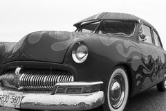 Exotic vintage classic motorcar on display on a rainy day Royalty Free Stock Photo