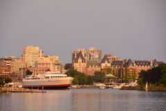 Victoria B.C.'s inner harbor. Royalty Free Stock Photo