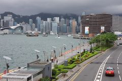 Victoria bay, Hong Kong Stock Photo