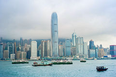 Victoria Bay. Hong Kong Stock Image