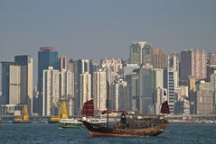 Victoria Bay in Hong Kong Royalty Free Stock Photo