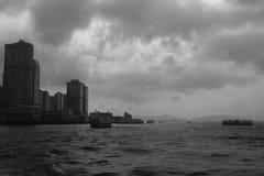 Victoria bay at twilight, hong kong Royalty Free Stock Photo