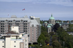Victoria BC with British Parliament buildings in the middle Stock Photography