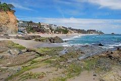Victoria Beach, Laguna Beach, Califórnia. Fotos de Stock Royalty Free
