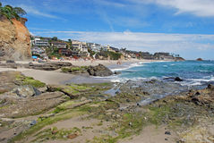 Victoria Beach, Laguna Beach, California. Image shows picturesque Victoria Beach found in South Laguna Beach, Southern California. At one time Ricky Nelson and Royalty Free Stock Photos