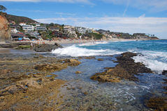 Victoria Beach, South Laguna Beach, California. Image shows picturesque Victoria Beach found in South Laguna Beach, Southern California. At one  time Ricky Stock Photos
