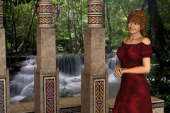 Victoria - Beautiful Medieval Princess at Castle Camelot - Image 5 Royalty Free Stock Photo
