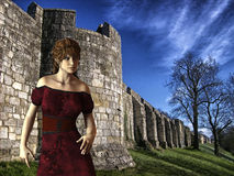 Victoria - Beautiful Medieval Princess at Castle Camelot - Image 9 Stock Image
