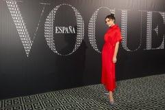 Victoria Beckham asiste a la cena de Vogue en su honor en el SP de Madrid imágenes de archivo libres de regalías
