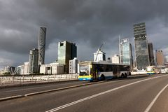 Victoria-Brücke in Brisbane Stockbilder